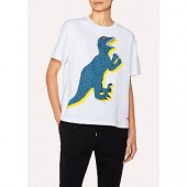 PS Paul Smith Large Dino Print T-Shirt, White
