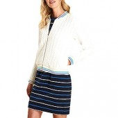 Barbour Pentle Cable Sweater Cardigan, White