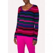 PS Paul Smith Stripe Scoop Knit Jumper, Multi