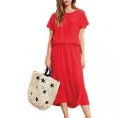 hush Lace Back Dress, Ski Red