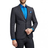 HUGO by Hugo Boss Astian Check Extra Slim Fit Suit Jacket, Navy