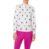 PS Paul Smith Multi Colour Rabbit Print Shirt, White/Multi