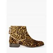 Boden Kingham Ankle Boots, Tan Leopard Suede