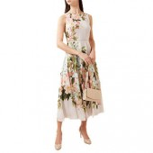Hobbs Carly Dress, Silver/Multi