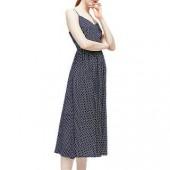 Warehouse Spot Midi Dress, Blue
