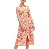 Warehouse Sahara Shirt Dress, Orange