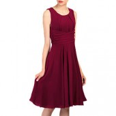 Jolie Moi Cross Belt Dress, Burgundy