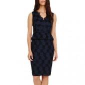 Phase Eight Farrah Lace Dress, Navy