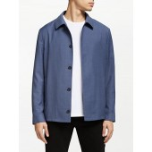 Kin Shirt Collar Bomber Jacket, Airforce Blue