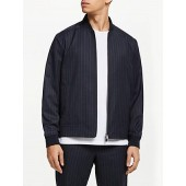 Kin Stripe Bomber Jacket, Navy