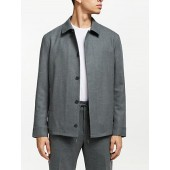 Kin Shirt Collar Bomber Jacket, Sage