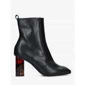 Kurt Geiger London Stride 90 Ankle Boots, Black Leather
