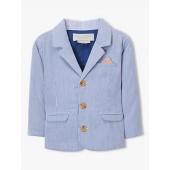 John Lewis & Partners Heirloom Collection Baby Textured Stripe Blazer, Blue