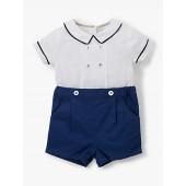 John Lewis & Partners Heirloom Collection Baby Linen Cotton Romper, Multi