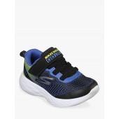 Skechers Junior Go Run 600 Farrox Trainers, Blue/Lime