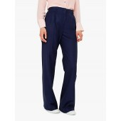PS Paul Smith Wide Leg Wool Trousers, Navy