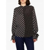 PS Paul Smith Spot Tie Sleeve Shirt, Black/White