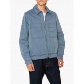 PS Paul Smith Showerproof Denim Jacket, Mid Wash Blue