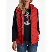 Barbour Seaward Quilted Hooded Gilet, Coastal Red