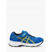 ASICS Junior Contend 5 GS Riptape Trainers, Blue/Yellow