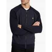 Lyle & Scott Knitted Bomber, Dark Navy
