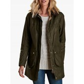 Barbour Abbey Sherwood Lightweight Waxed Jacket, Archive Olive