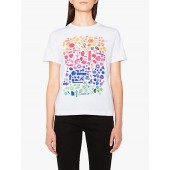 PS Paul Smith Trinkets Print Cotton T-Shirt, White/Multi