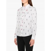 PS Paul Smith Rabbit Print Cotton Shirt, White