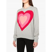 PS Paul Smith Heart Sweatshirt, Grey Marl
