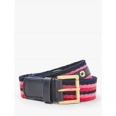 Boden Webbing Stripe Jeans Belt, Pink/Multi