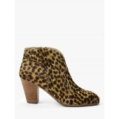 Boden Hoxton Heeled Ankle Boots, Tan Leopard