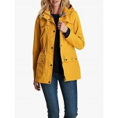 Barbour Drizzle Waterproof Jacket, Canary Yellow