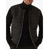 Reiss Watson Long Sleeve Quilted Bomber Jacket, Black