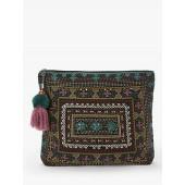 Star Mela Neysa Embellished Clutch Bag, Faded Black