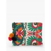Star Mela Aminta Abstract Floral Print Clutch, Multi