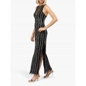 Monsoon Rosie Embellised Maxi Dress, Black