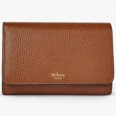 Mulberry Continental Medium Leather French Wallet, Oak