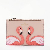 kate spade new york By The Pool Flamingo Marley Applique Leather Coin Purse, Pink