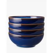 Denby Blue Haze Cereal / Soup Bowls, Set of 4, 17cm