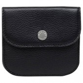 Radley Coleman Street Leather Small Flapover Coin Purse, Black