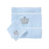 Rachel Riley My Little Prince Bath and Face Towel Set, Light Blue