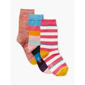 Paul Smith Stripe Mix Socks Set, Pack of 3, Multi
