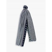 Paul Smith Two Spot Scarf, Navy