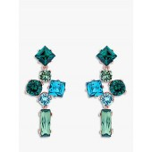 Ted Baker Satara Swarovski Crystal Drop Earrings, Rose Gold/Green