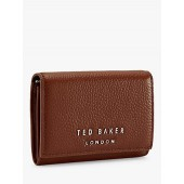 Ted Baker Odelle Mini Leather Foldover Purse, Mid Brown