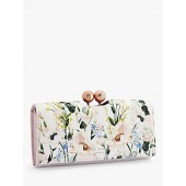 Ted Baker Clarita Floral Print Leather Matinee, Pink/Multi