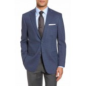 Classic Fit Stretch Check Wool Sport Coat