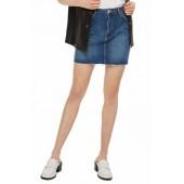 Varsity Stripe Denim Miniskirt