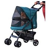 Pet Gear Happy Trails No-Zip Pet Stroller in Emerald