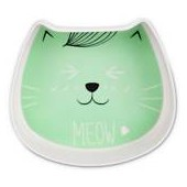 Harmony Mint Kitty Face Melamine Cat Dish